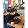 Mohammed and Sohaib working hard!