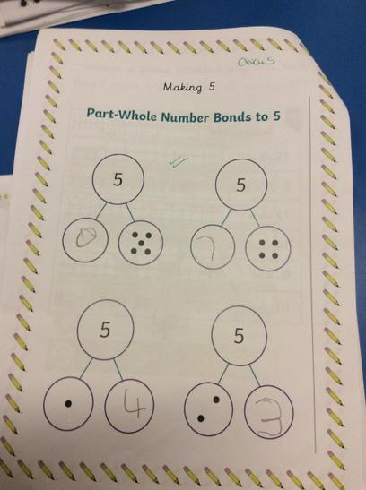 Well Done to Owais for finding different ways of making 5!