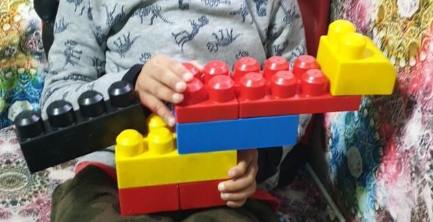Super T-Rex building Uzair!