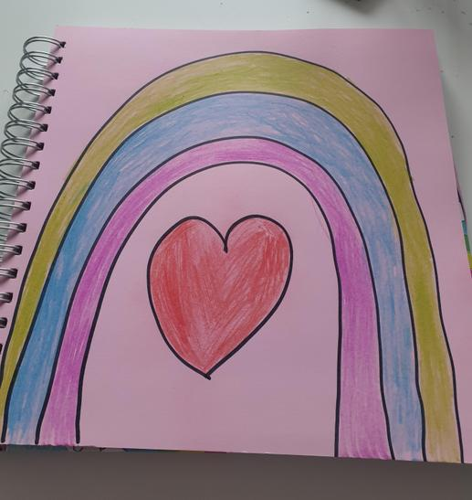 Aaminah has drawn a lovely rainbow.