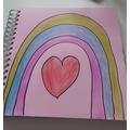 Aaminah has drawn a lovely rainbow.