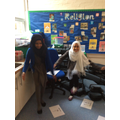 Abida And Asli having fun trying this exercise.