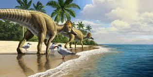 Can you think of words to describe the dinosaurs?
