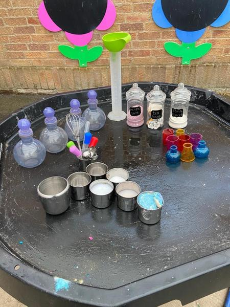 Potions and our wet play area