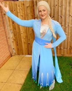 Elsa preparing to make Olaf ...
