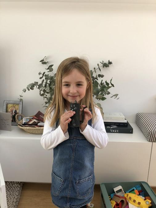 Olivia and Archie the cat