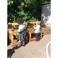We really enjoy playing with our new mud kitchens