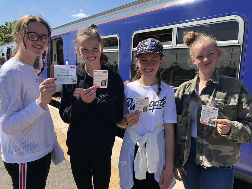 Cadets arrive back at Stalybridge train station