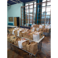 80 bags went out to our families.
