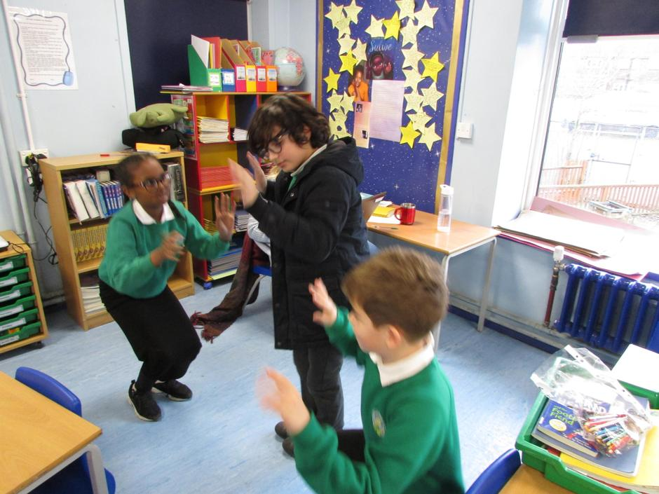 Acting out the Water Cycle 11.1.21