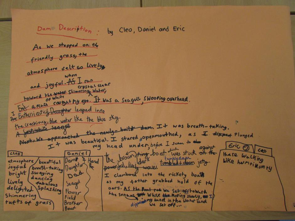 Descriptive Writing 6.1.21 (Group Write)
