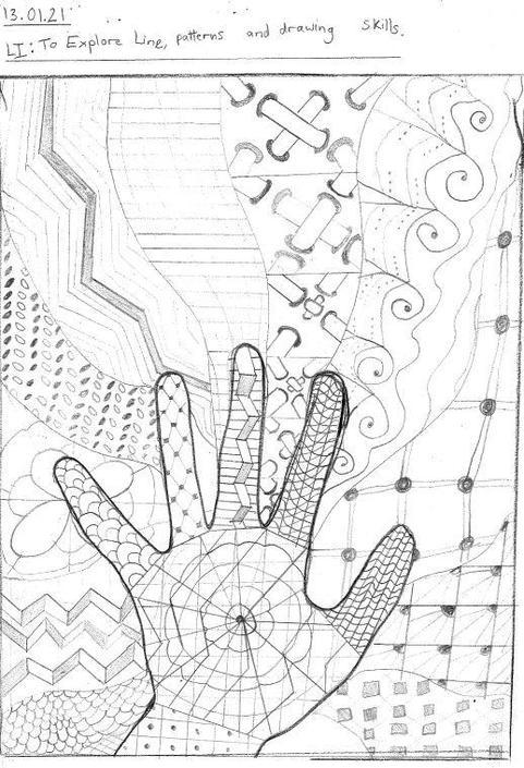Exploring lines, patterns and drawing skills