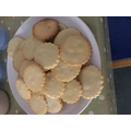 Delicious home made biscuits ready to be eaten