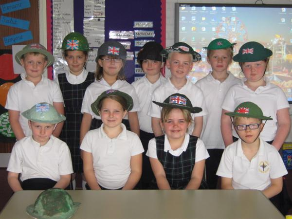 We made our own Home Guard helmets