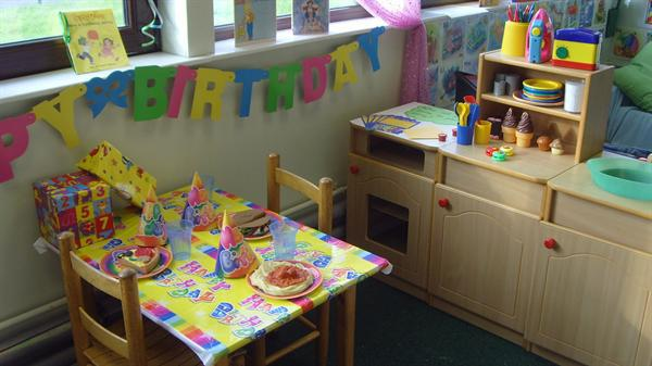 Role Play area - The Birthday Party