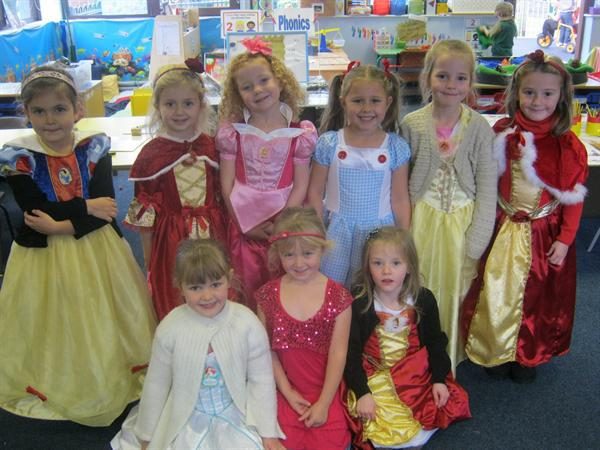 Some of Year 1's Princesses!
