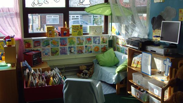 Our reading and listening area