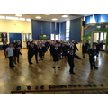 Having a dance