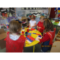 Reception painting the French flag
