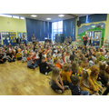 Children taking part in the Wear it Wild assembly.