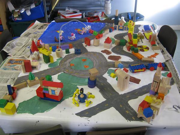 We created our own Toy Town!