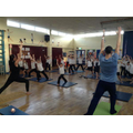 Y4 Yoga stretch!
