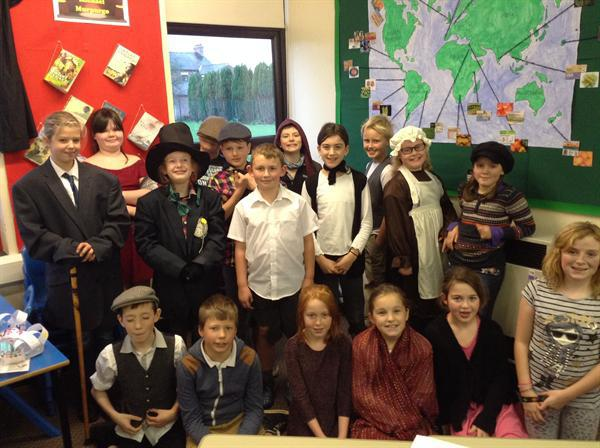 Oliver Twist dress up day with some very mucky fac