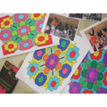 Colourful rangoli patterns.