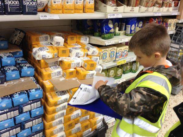 Shopping with a budget - Column addition in Tesco