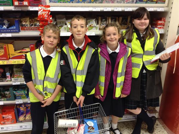 The Team shopping for their Rocky Road ingredients
