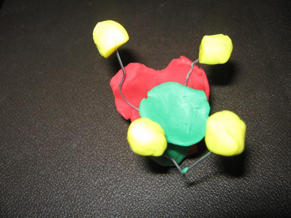 Making a model of a flower.