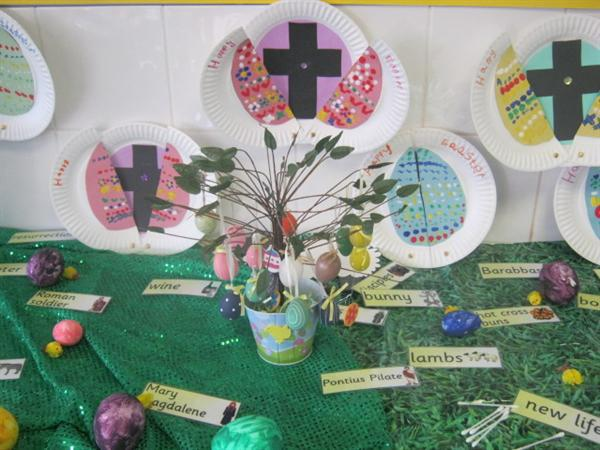 Easter cards and display