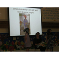 Bethany & Macy reading 'Warning' poem.