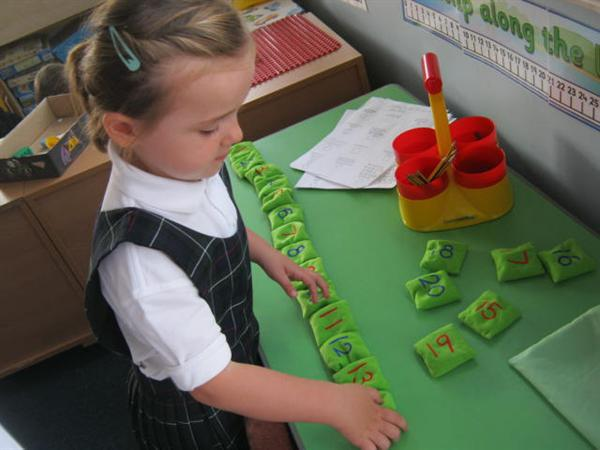 Ordering numbers in the Maths Area!