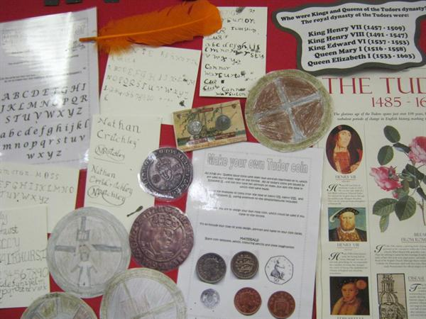 Tudor Writing & Coins