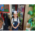 Year 1 making French flag hats