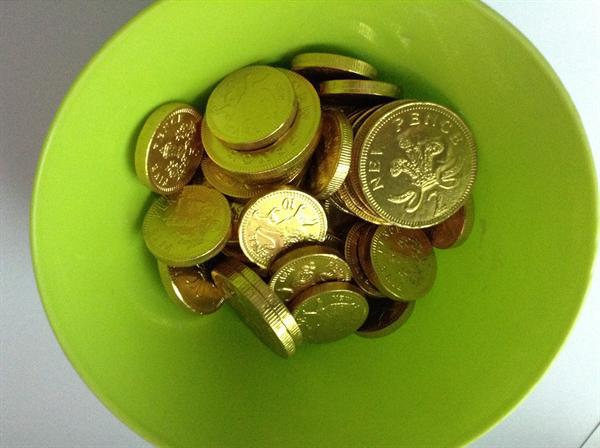 Coins used in the Dreidal game