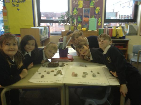 In Science we have been classifying rocks!