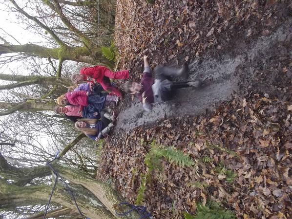 Muddy fun - mud slides!