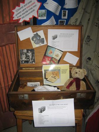 Evacuee's suitcase