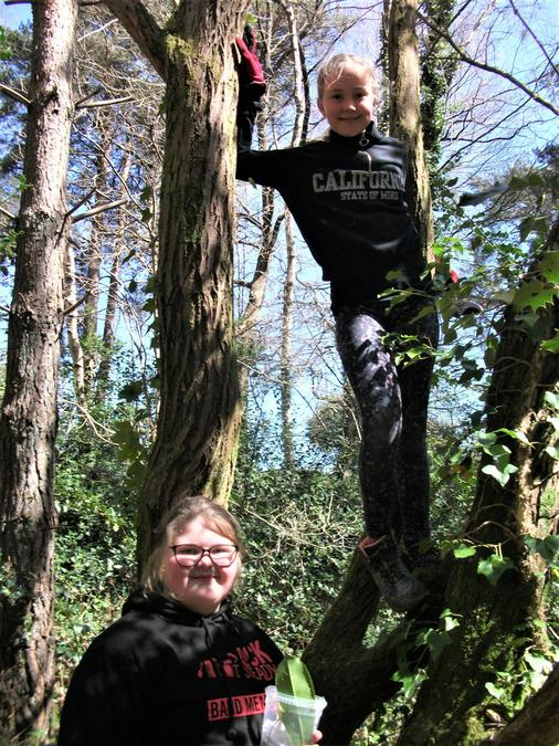 The perfect Forest School pose!