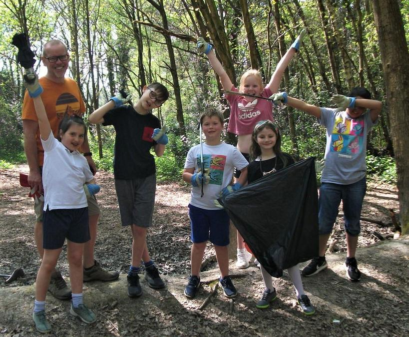 Keeping our beautiful woods clean and tidy