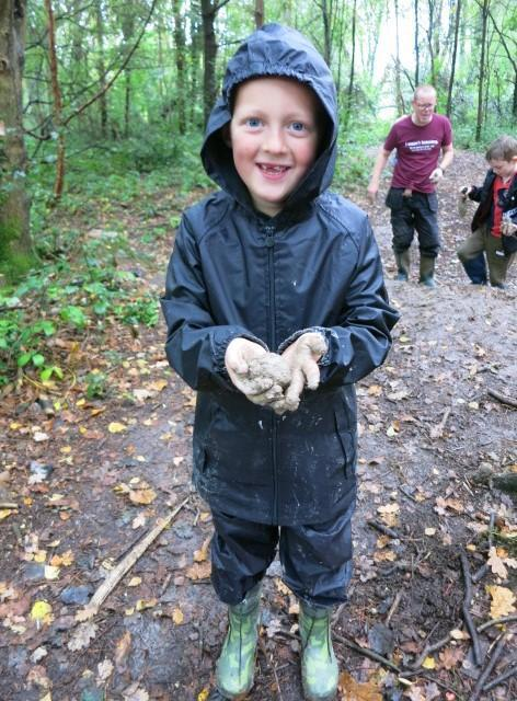 Clay mining is mucky work!