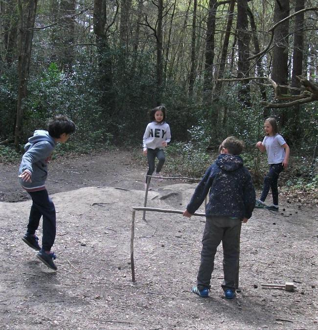 Forest School Olympics ... the hurdles!