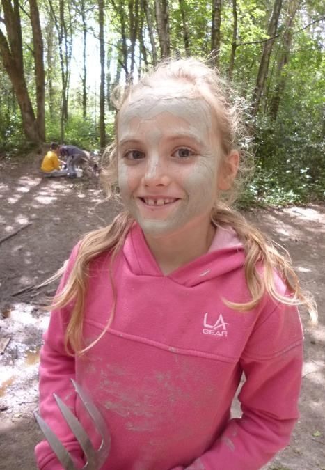 Forest School clay face mask