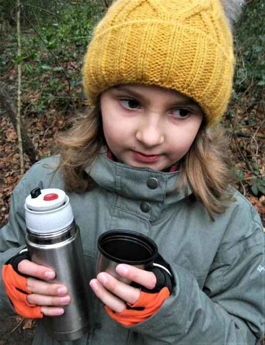 Be prepared ... with your own hot chocolate flask!