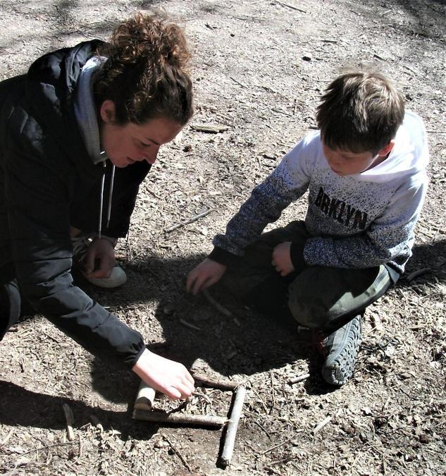 A helping hand to create a mini fire