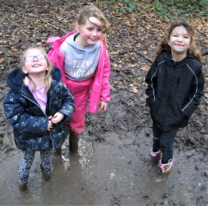 We love playing in muddy puddles