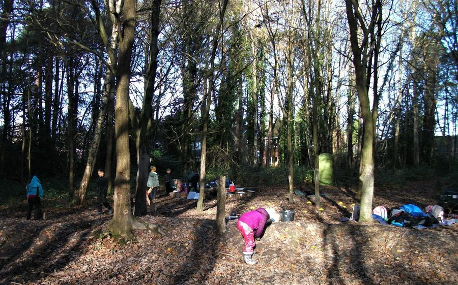 Our sunny (but chilly) winter Forest School