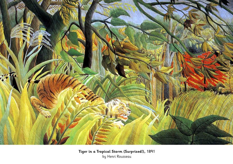 Tiger in a Tropical Storm, 1891 by Henri Rousseau